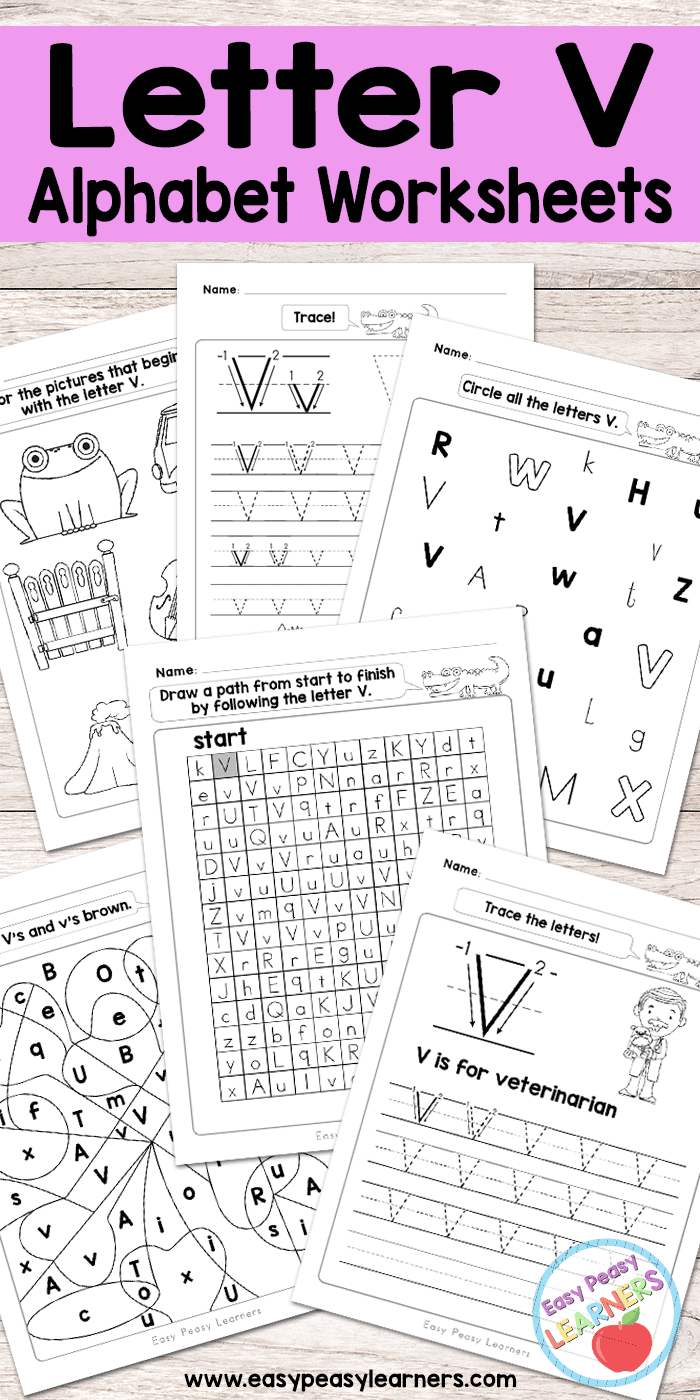 Free Printable Letter V Worksheets - Alphabet Worksheets Series