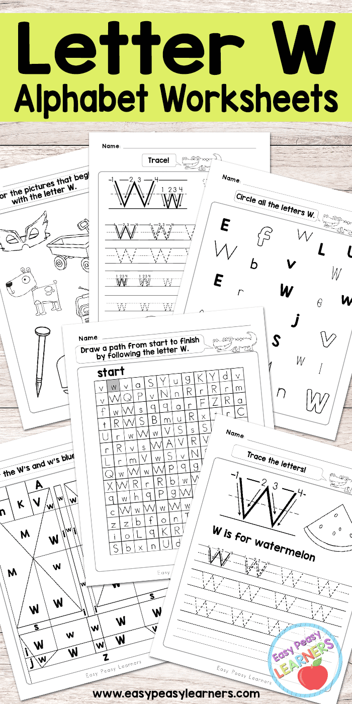 Letter W Worksheets Alphabet Series Easy Peasy Learners – W Worksheets