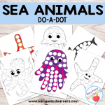 Free Sea Animals Do a Dot Printables