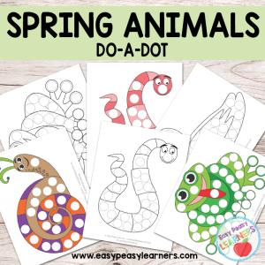 Free Spring Animals Do a Dot Printables