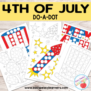 Free 4th of July Do a Dot Printables