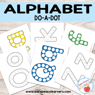 Free Alphabet - Do a Dot Printables