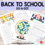 Free Back to School Do a Dot Printables