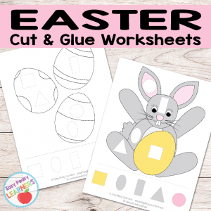 Free Easter Cut and Glue Worksheets