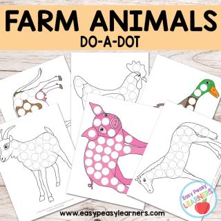 Free Farm Animals - Do a Dot Printables