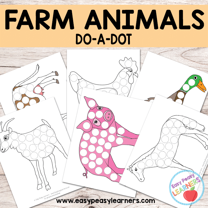 Free Farm Animals - Do a Dot Printables