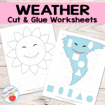 Weather Cut and Glue Worksheets