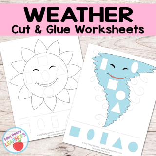 Free Weather Cut and Glue Worksheets