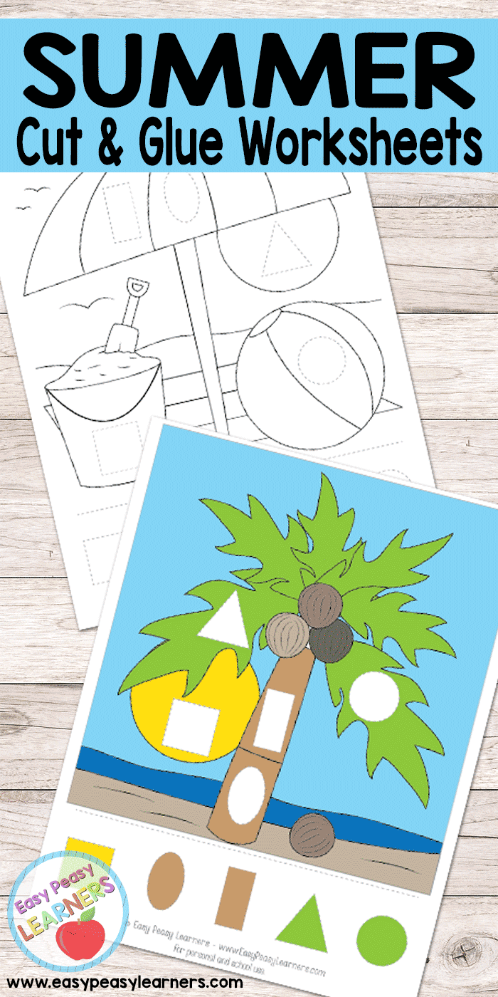 Summer - Cut and Glue Worksheets