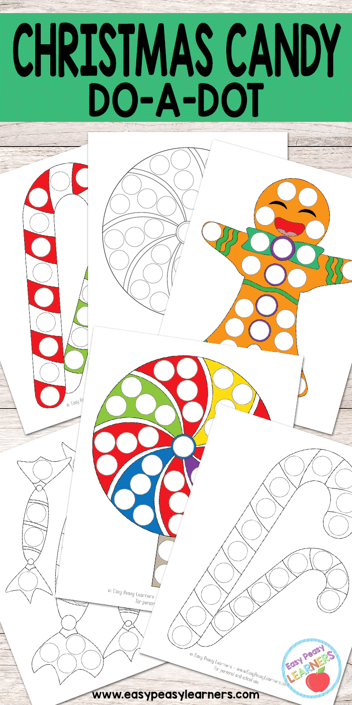 Christmas Candy - Do a Dot Printables
