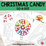 Free Christmas Candy Do a Dot Printables