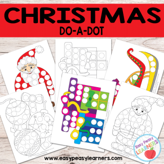 Free Christmas Do a Dot Printables
