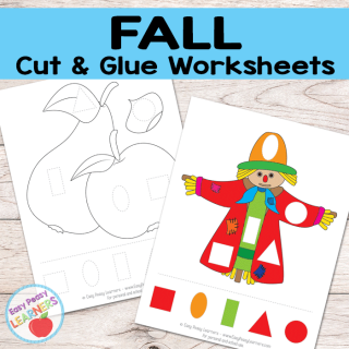 Free Fall Cut and Glue Worksheets