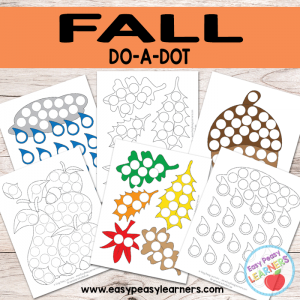 Free Fall Do a Dot Printables