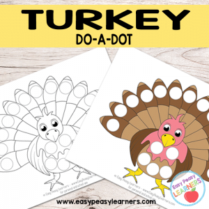 Free Turkey Do a Dot Printables