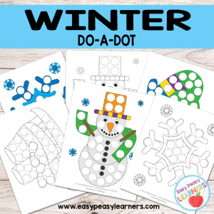 Free Winter Do a Dot Printables