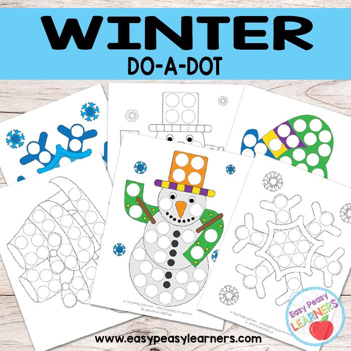 Free Winter Do a Dot Printables