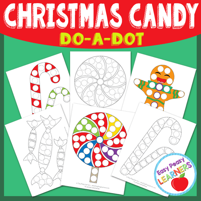 Lovely Christmas Candy Do a Dot Printables