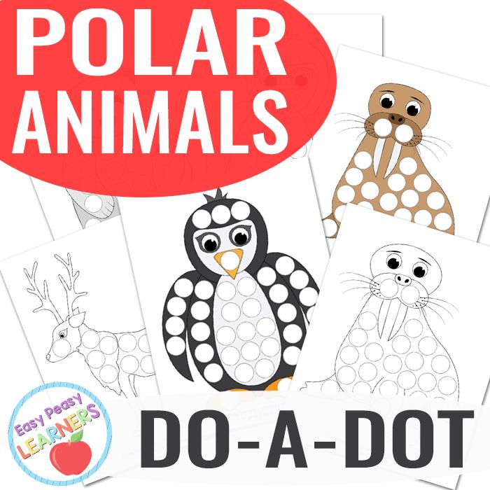 Lovely Polar Animals Do a Dot Printables