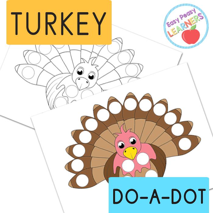 Lovely Turkey Do a Dot Printables