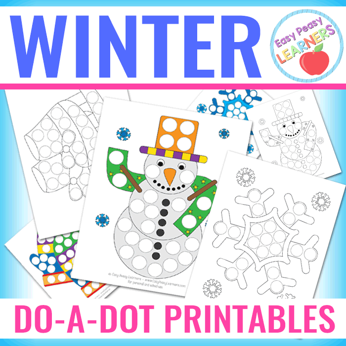 lovely winter do a dot printables easy peasy learners. Black Bedroom Furniture Sets. Home Design Ideas