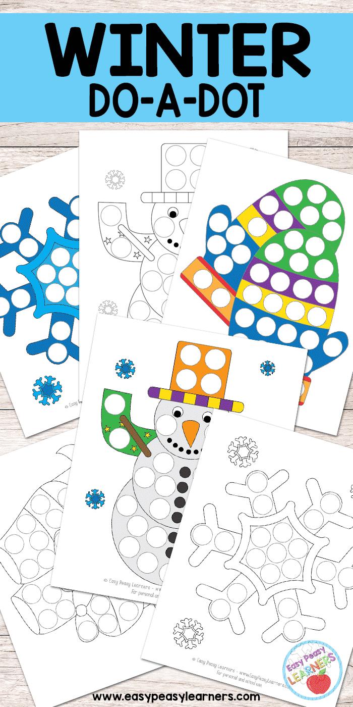 Winter - Do a Dot Printables