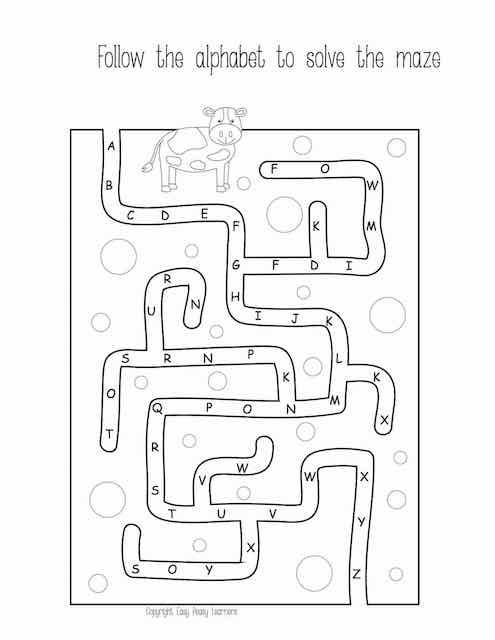 Alphabet Mazes 1