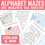 Alphabet Mazes to Solve