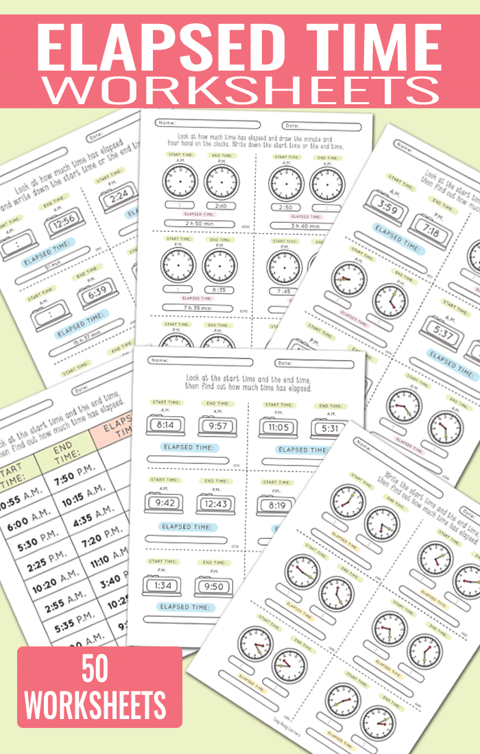 50 elapsed time worksheets great resource for 3rd 4th and 5th grade - Elapsed Time Worksheet