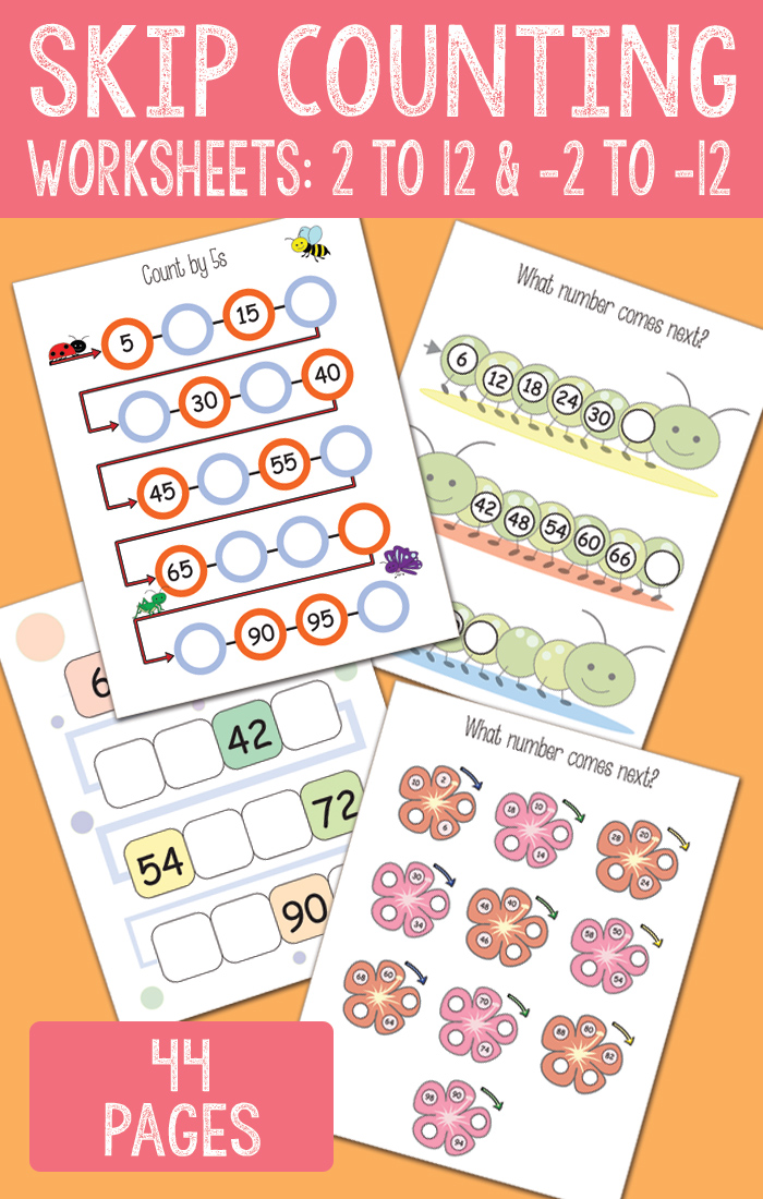 Skip Counting Worksheets From 2 To 12 And Backwards Easy Peasy