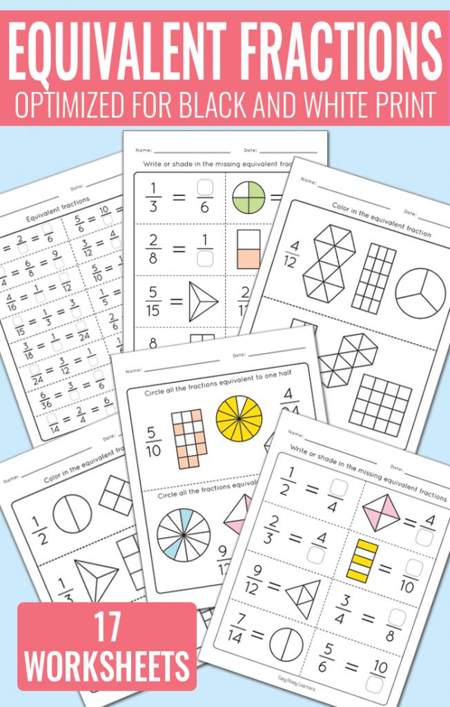 Equivalent Fractions Worksheets - Math Worksheets - Easy ...