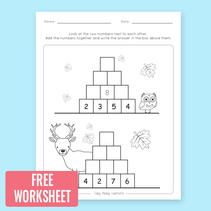 Free Printable Addition to 100 Worksheet