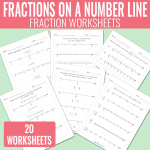 Fractions on a Number Line Worksheets – Math Worksheets