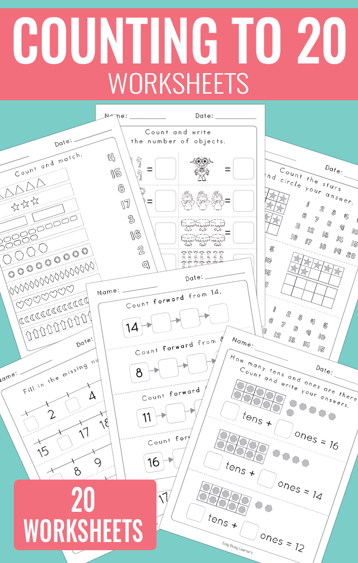 Counting To 20 Worksheets Kindergarten Math Easy. Counting To 20 Worksheets. Worksheet. Counting Backwards From 20 Worksheets At Mspartners.co