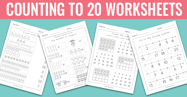 Counting To 20 Worksheets Kindergarten Math Worksheets Easy