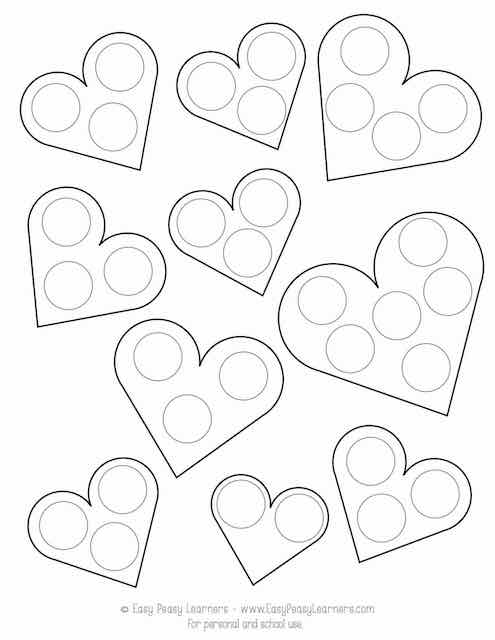 Valentines Day Do A Dot Printables - Easy Peasy Learners
