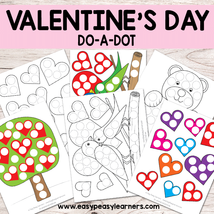 Valentine's Day Do a Dot Printables