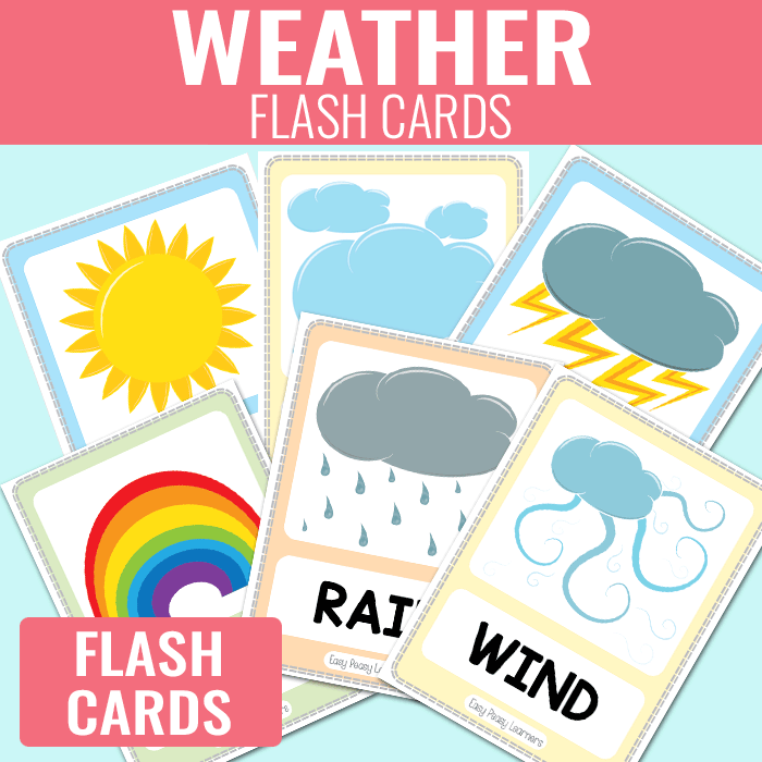 weather flash cards easy peasy learners clipart check clipart check