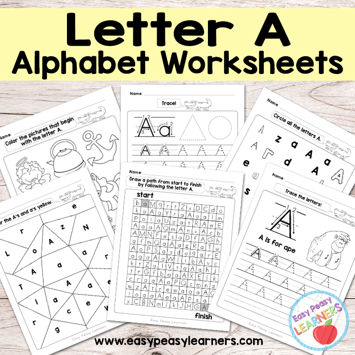 Letter A Worksheets - Alphabet Series - Easy Peasy Learners