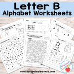 Letter B Worksheets – Alphabet Series