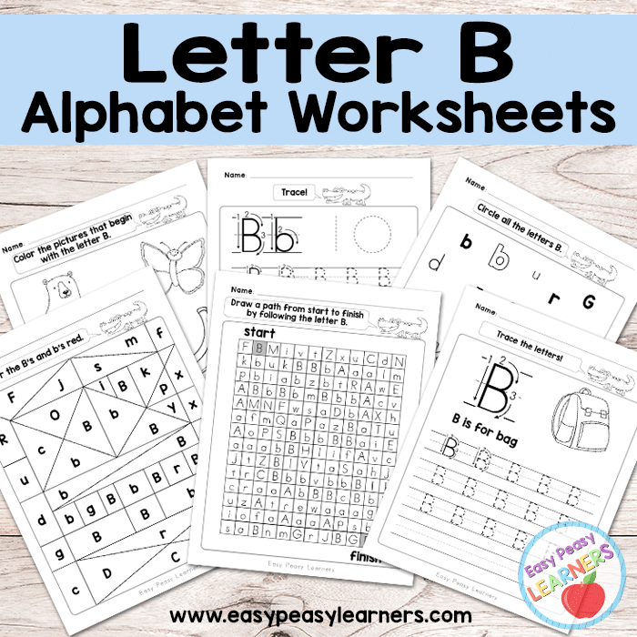 Alphabet Worksheets Letter B