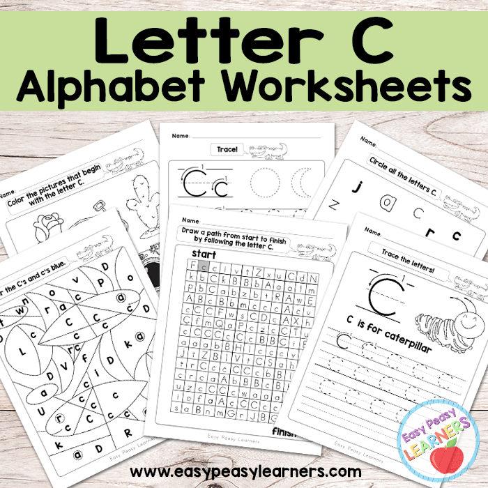 Alphabet Worksheets Letter C