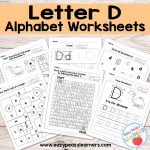 Letter D Worksheets – Alphabet Series