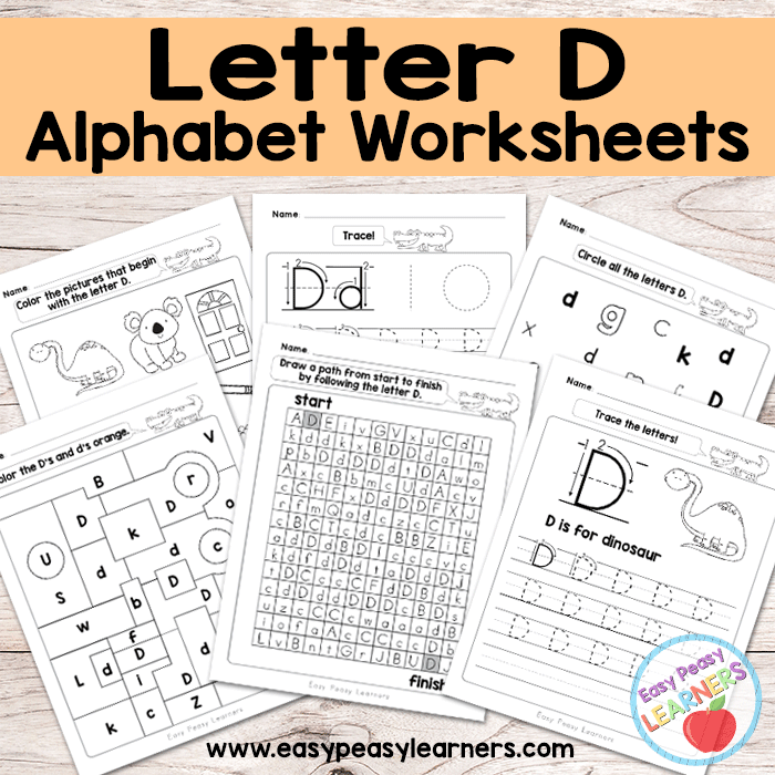 Alphabet Worksheets Letter D