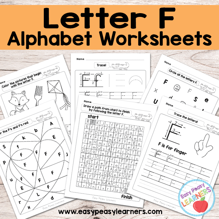 Alphabet Worksheets Letter F
