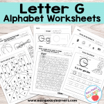 Letter G Worksheets – Alphabet Series