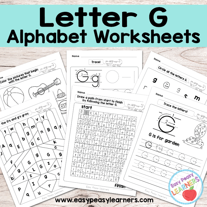 Alphabet Worksheets Letter G