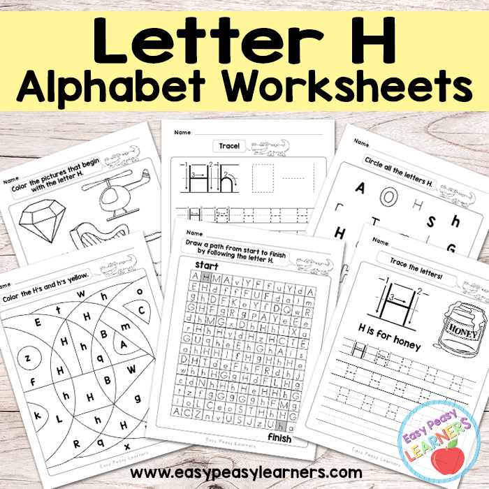 Letter H Worksheets - Alphabet Series - Easy Peasy Learners
