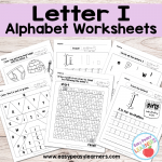 Letter I Worksheets – Alphabet Series