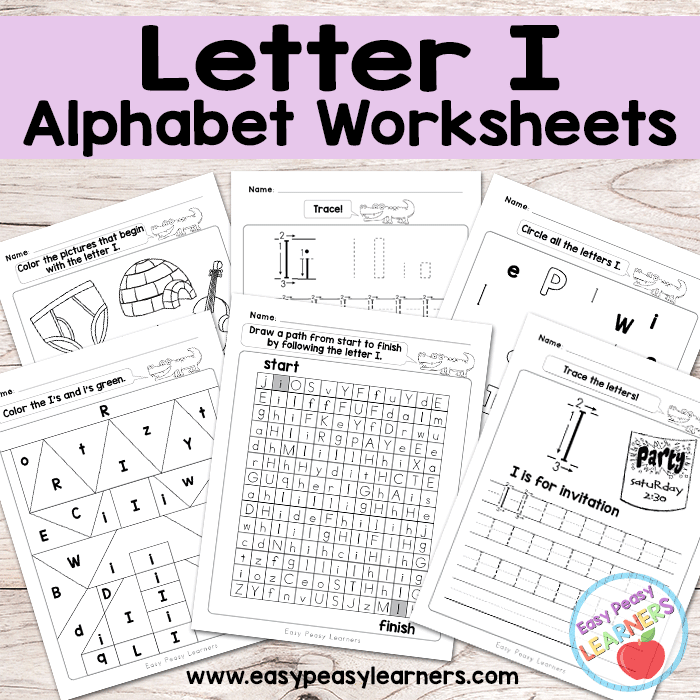 Letter I Worksheets - Alphabet Series - Easy Peasy Learners